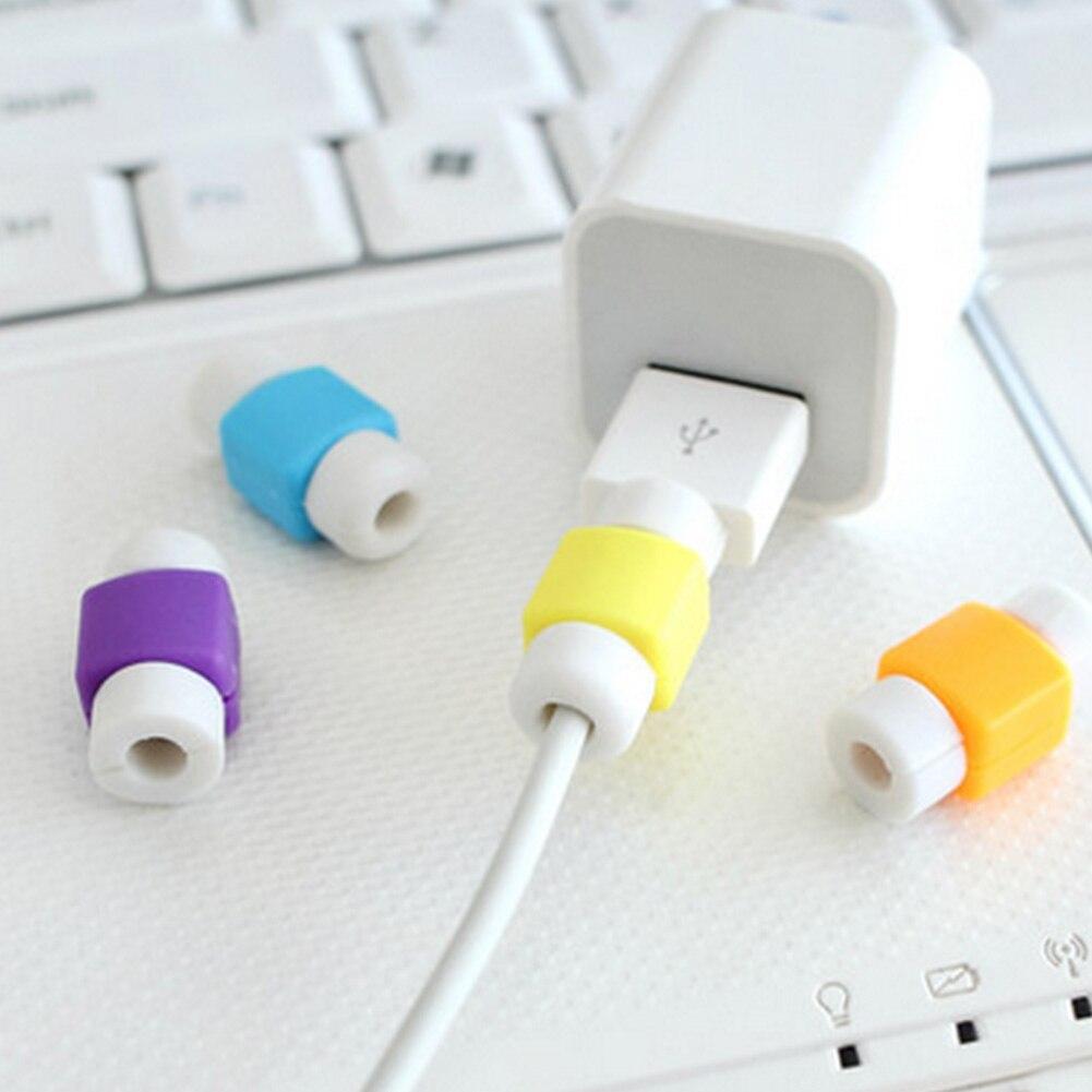 Cabo USB bonito Luva Protetora Saver Protetor de Tampa Do Fio De Proteção 8 Pin Carregador de linha de Dados Para A Apple