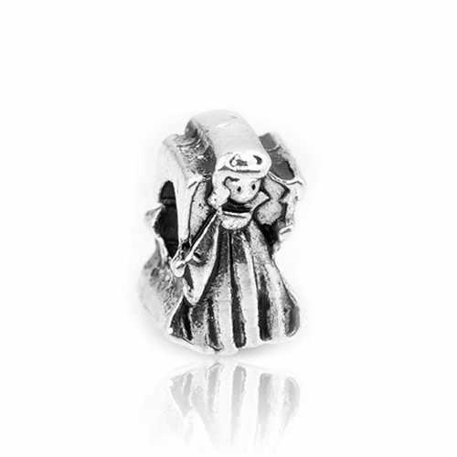 Punk w stylu Vintage lew niedźwiedź kwiat serce dziewczyna Hollow gwiazda koraliki Fit Pandora Charms bransoletki dla kobiet naszyjnik DIY tworzenia biżuterii