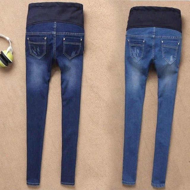 Maternity Jeans For Pregnant Women Pregnancy Winter Warm Jeans Pants Maternity Clothes For Pregnant Women Nursing Trousers 1