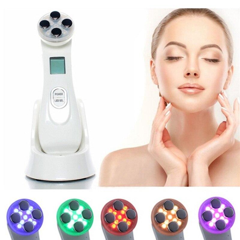 Anti-rides électrique nettoyant pour le visage lavage Machine de nettoyage du visage thérapie de LED photon acné Laser stylo beauté soins de la peau du visage
