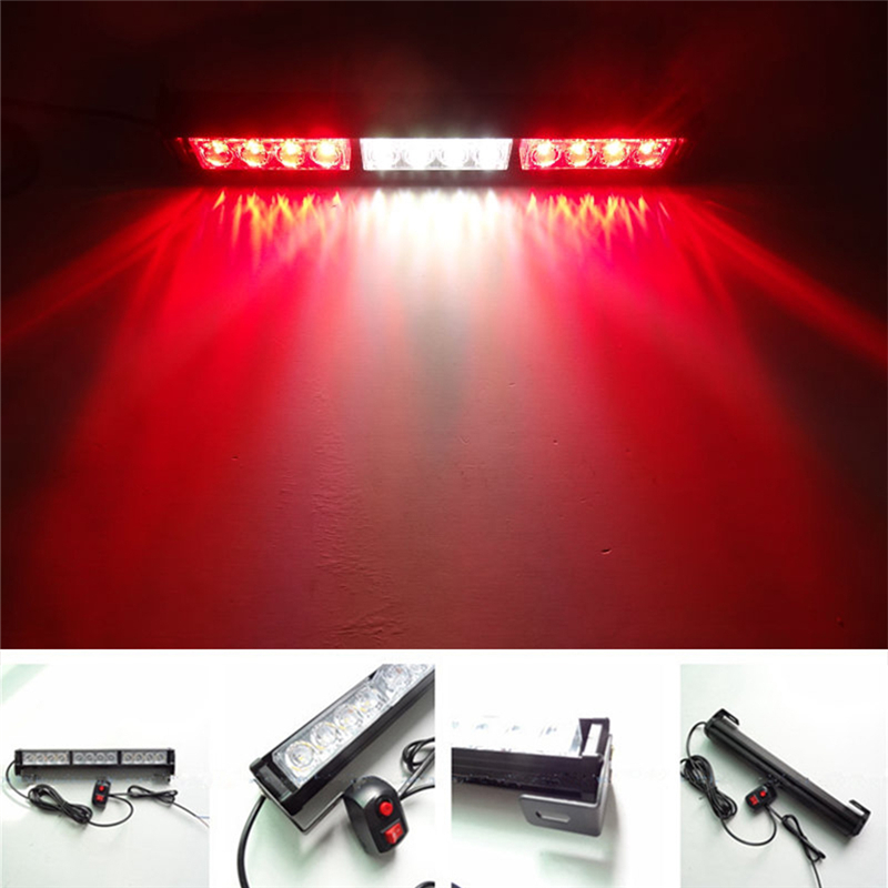 DC 12V Car LED Strobe Warning Lights Car Emergency Flashing Truck Light Firemen Police Waterproof LED Light 1 set flashing led lights dc 12v car