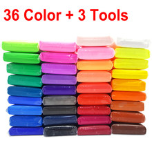 36 Color Light Soft Clay DIY Toys Children Educational Air Dry Polymer Plasticine Safe Colorful Light Clay Toy Gift To Kids(China)