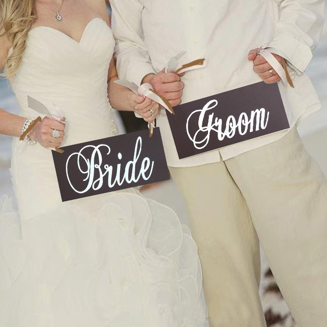 chicinlife 1set bride and groom photo props for wedding party decoration bridal shower chair decor wedding