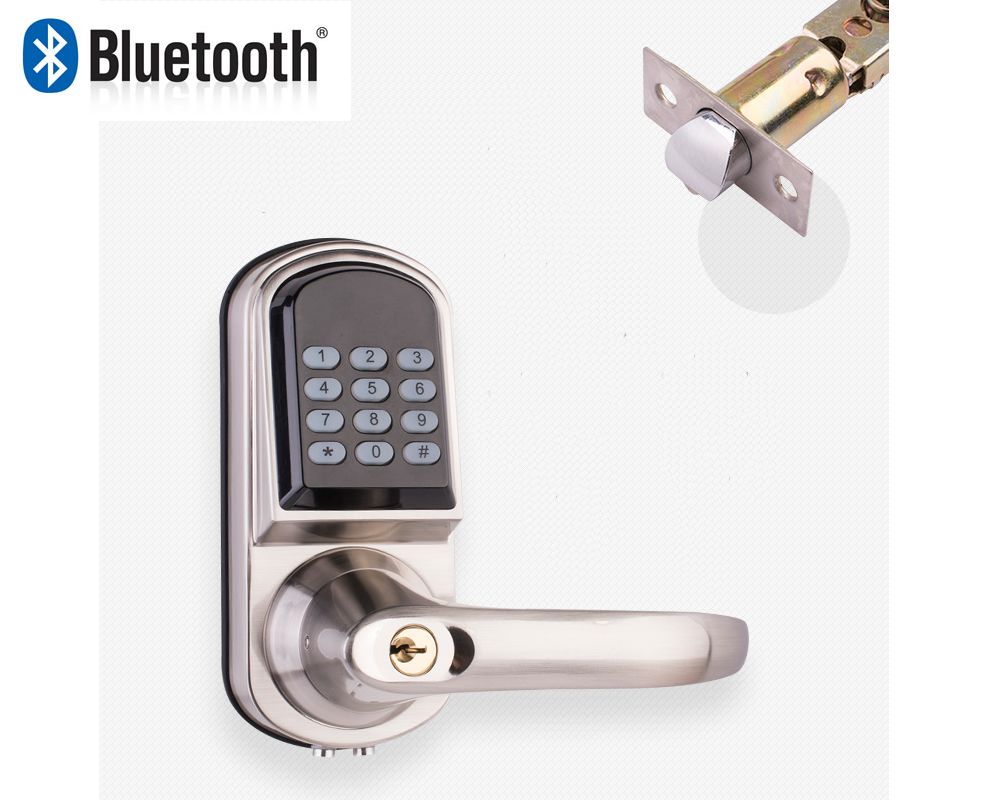 Smartphone Bluetooth Entrance Smart Door Locks With
