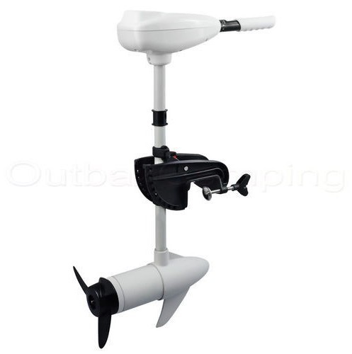 MARINE 55LBS ELECTRIC OUTBOARD TROLLING MOTOR INFLATABLE BOAT MOTOR WHITE Salt Water Using