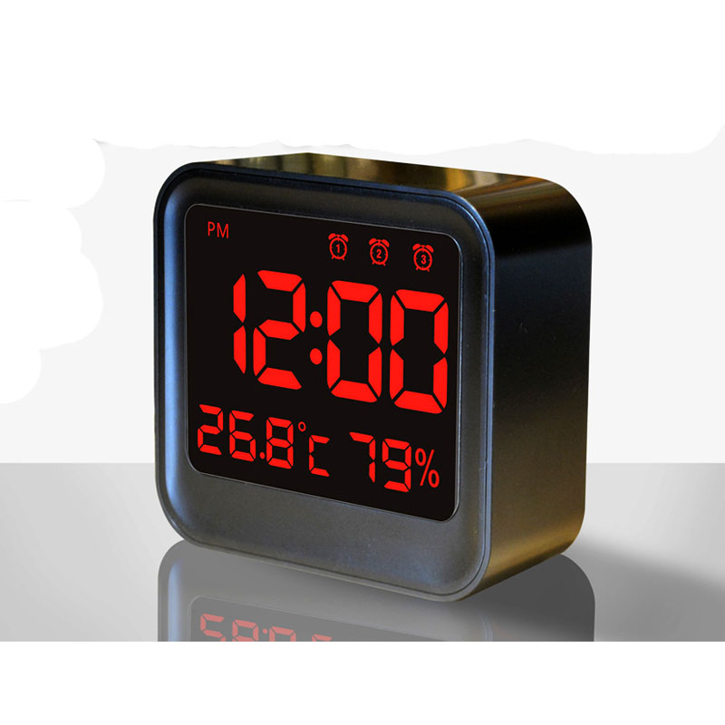 CLOCK plug digital display clock LED multi - group alarm clock with temperature and humidity meter with three tables
