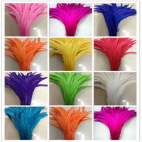 Wholesale 100PCS natural natural 30 35CM (12 14 inches) cock tail feather dyeing DIY decorative feather accessories