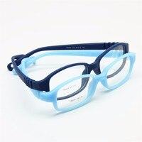Dzieci Ramki Okularów Optycznych z Pasek Rozmiar 49, nie Śruba Elastyczne Dziewczyny Chłopcy Okulary, jednoczęściowy Dzieci Okulary z Linkami