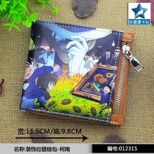 Anime de japón Detective Conan Cosplay hombres mujeres monedero Bifold