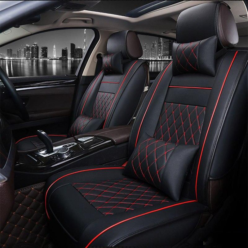 Universal PU Cuir siège de voiture couvre Pour Volkswagen vw passat polo golf tiguan jetta touareg auto accessoires de voiture-style 3D