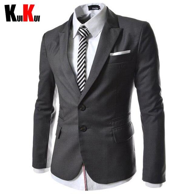 12e739e8fde New Multi-Pocket Design Men Slim Fit Suit Jacket Mens Two Buttons Business  Dress Suits