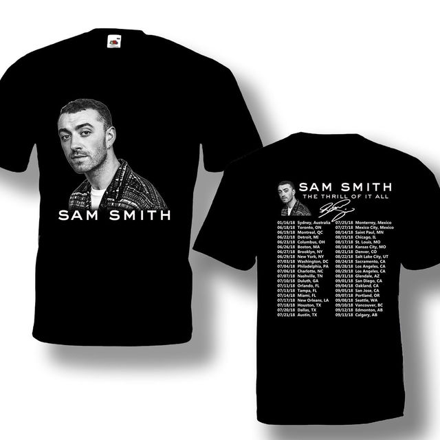 083cc3fbcece Sam Smith Tour 2018 Tshirt Black Color Hot Offer Short Sleeve S 4Xl ...