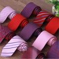 Delgadas Para Hombre Cuello Corbata delgada 2016 Marca Diseñador de Moda Nupcial Rojo Corbata de Seda Para Hombres Celebrity Sólido Pajaritas Gravata