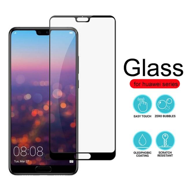 De vidrio templado 9 H para Huawei p20 pro Protector de pantalla Protctive Glas hauwei Honor 8x p10 p9 lite p cubierta de película mini 2017 inteligente