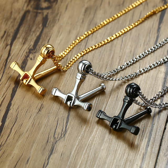 76bff4cf295 2018 Design Rotatable Cross Pendant Necklace Men Stainless Steel 24 28 inch  Long Chain