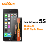 MOXOM Mobile Phone Battery For IPhone 5s 1560mAh High Capacity Battery Li Ion Battery Replacement Phone