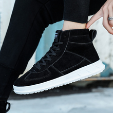 Plus Size 46 Men Shoes Leather Fashion High Tops Male Boots Luxury Brand Mens Casual Sneakers Waterproof Lace Up Flats Shoes 2016 luxury brand mens high top flats shoes vintage full leather lace up ankle boots tialian handmade elegant mens formal shoes