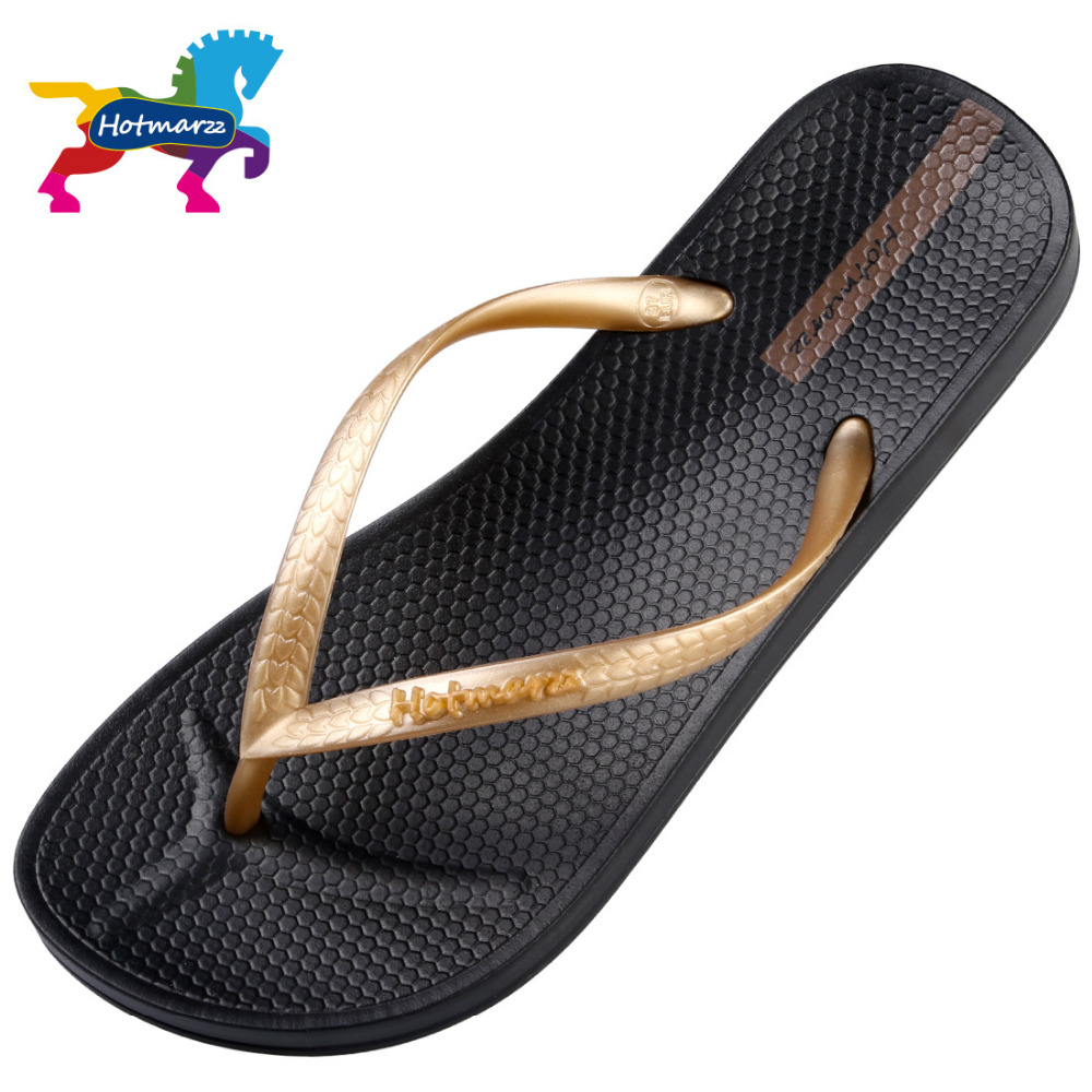 Hotmarzz Brand Designer Sandals Flip Flops Women Flat Slippers Solid Color Fashion Beach Slides Women HM0738