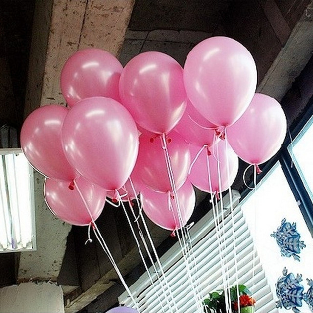 50Pcs Pink 10inch 21 Colors Pearl Latex Helium Balloons Inflatable Wedding Children Birthday Party Decoration