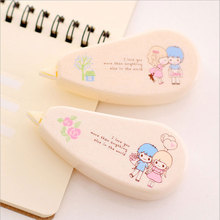 1x Lovely creative love story fixed bag of 8 m * 5 mm kawaii students office altered with special tape/correction
