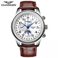 GUANQIN Men's Full steel Automatic Mechanical Watches Men Luxury Fashion Casual Sports Perpetual Calendar waterproof Wristwatch