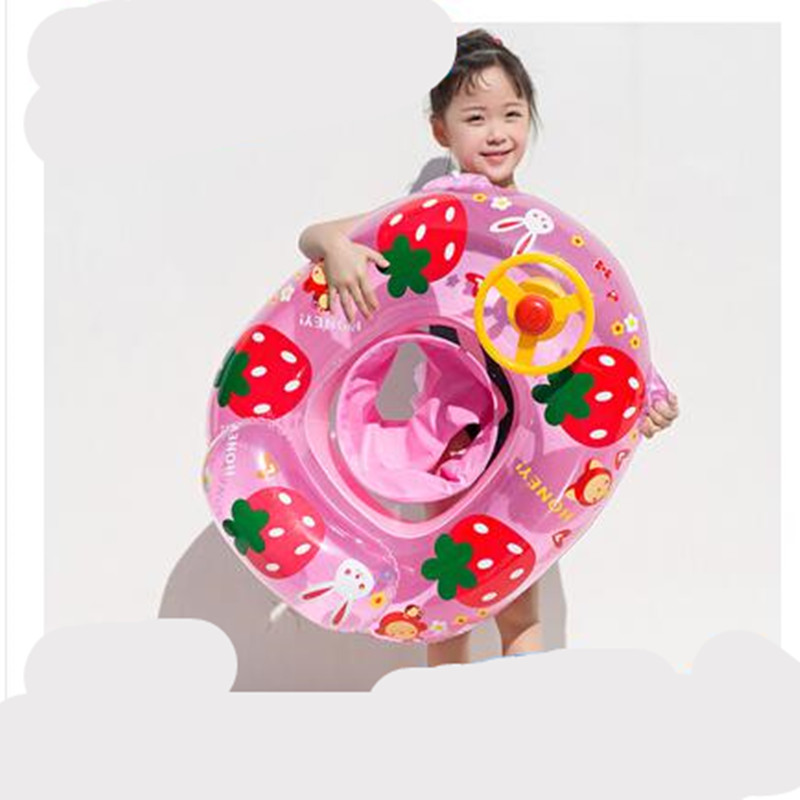Swimming Pool And Accessories Baby Child Boy Girl Seat Float Circle  Pool Inflatable Cartoon  Inflatable 0-1-3-5 Years Old