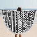 Cotton Blends Round Hippie Tapestry Beach Mat Throw Roundie Mandala Towel Print Mat Bohemian Featur Beach Cover Up Scarves