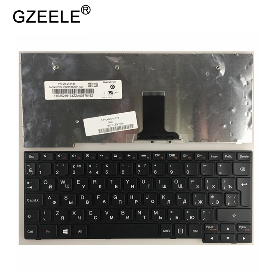 GZEELE russie clavier d'ordinateur portable pour LENOVO 25010921 25010089 25010987 25201429 25201459 25010026 25009916 MP-09J63SU-686 T1S-RU RU
