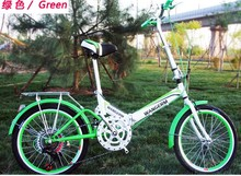 2016 Boys and girls folding / 20-inch gear Gear shift/ single speed / folding bicycle shock absorber
