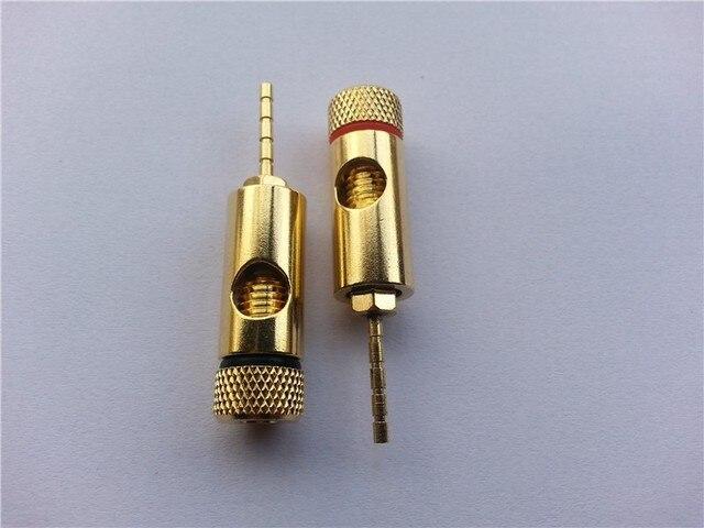 2 stücke kupfer Lautsprecherkabel Pin Anschlüsse für 4mm ...