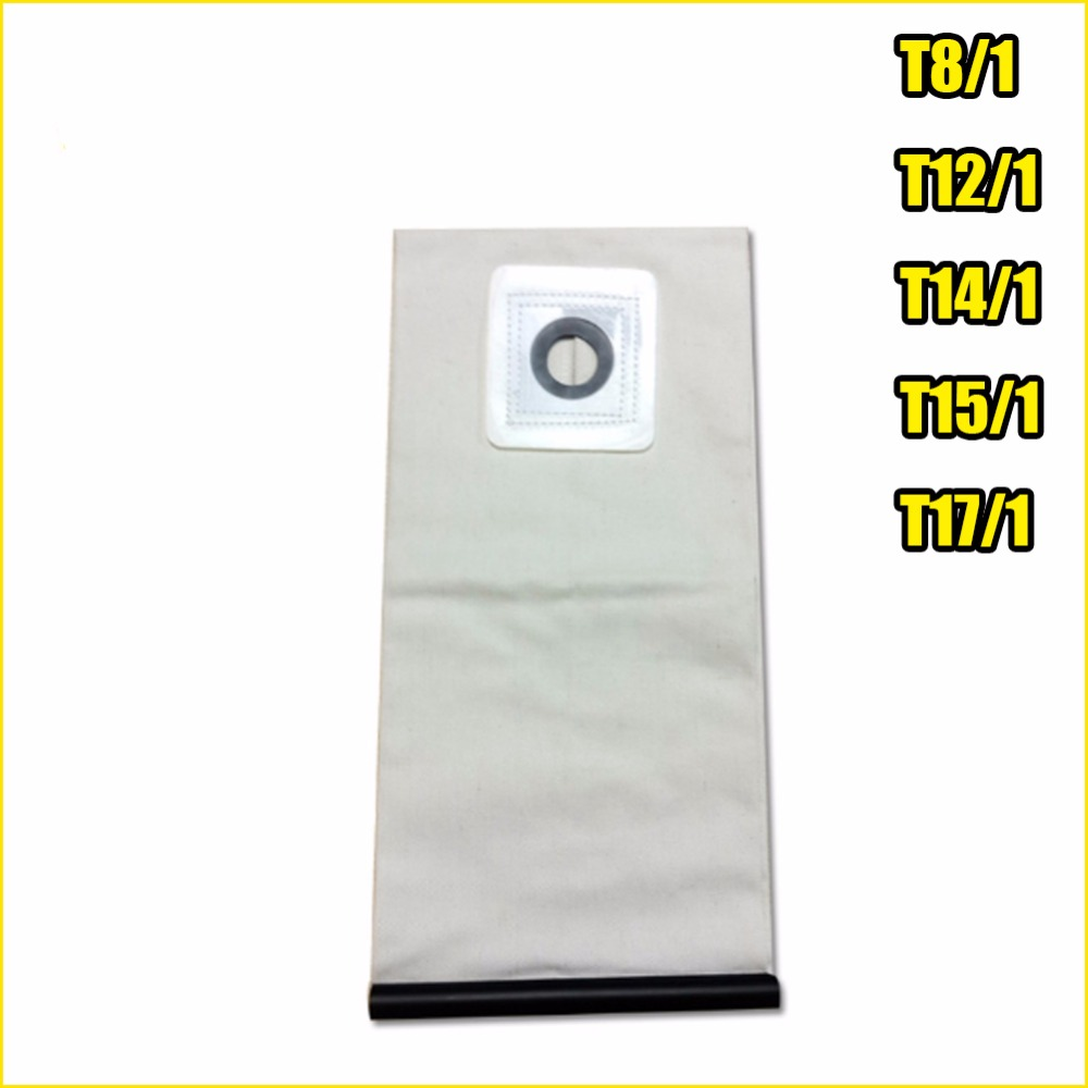 High quality Washable Vacuum Cleaner parts For KARCHER VACUUM CLEANER Cloth DUST Filter BAGS T8/1 T12/1 T14/1 T15/1 T17/1 karcher vacuum cleaner bag washable cloth bags for bv5 1 reuse pattern parts free shipping