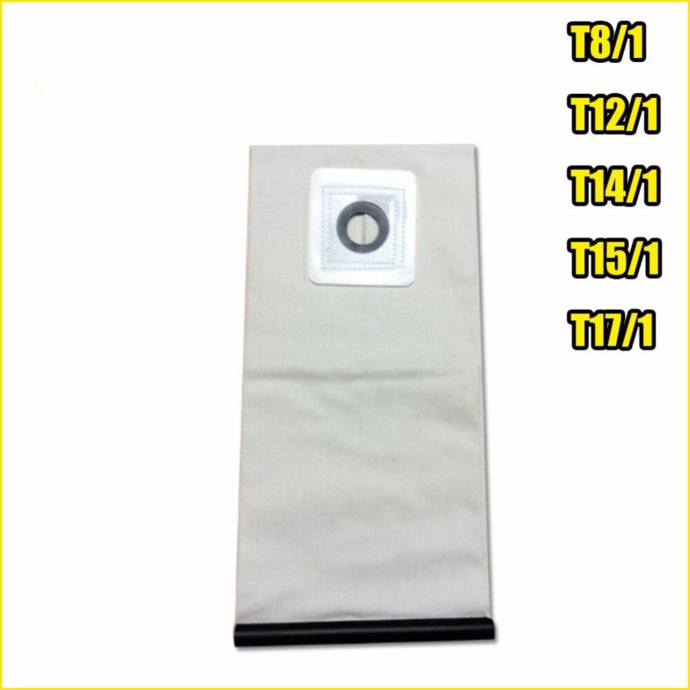 Pièces d'aspirateur lavables de haute qualité pour aspirateur KARCHER sacs filtrants à poussière en tissu T8/1 T12/1 T14/1 T15/1 T17/1