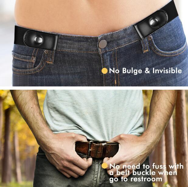 Stretch No Buckle/Show Invisible Belt For Jeans Pants  4