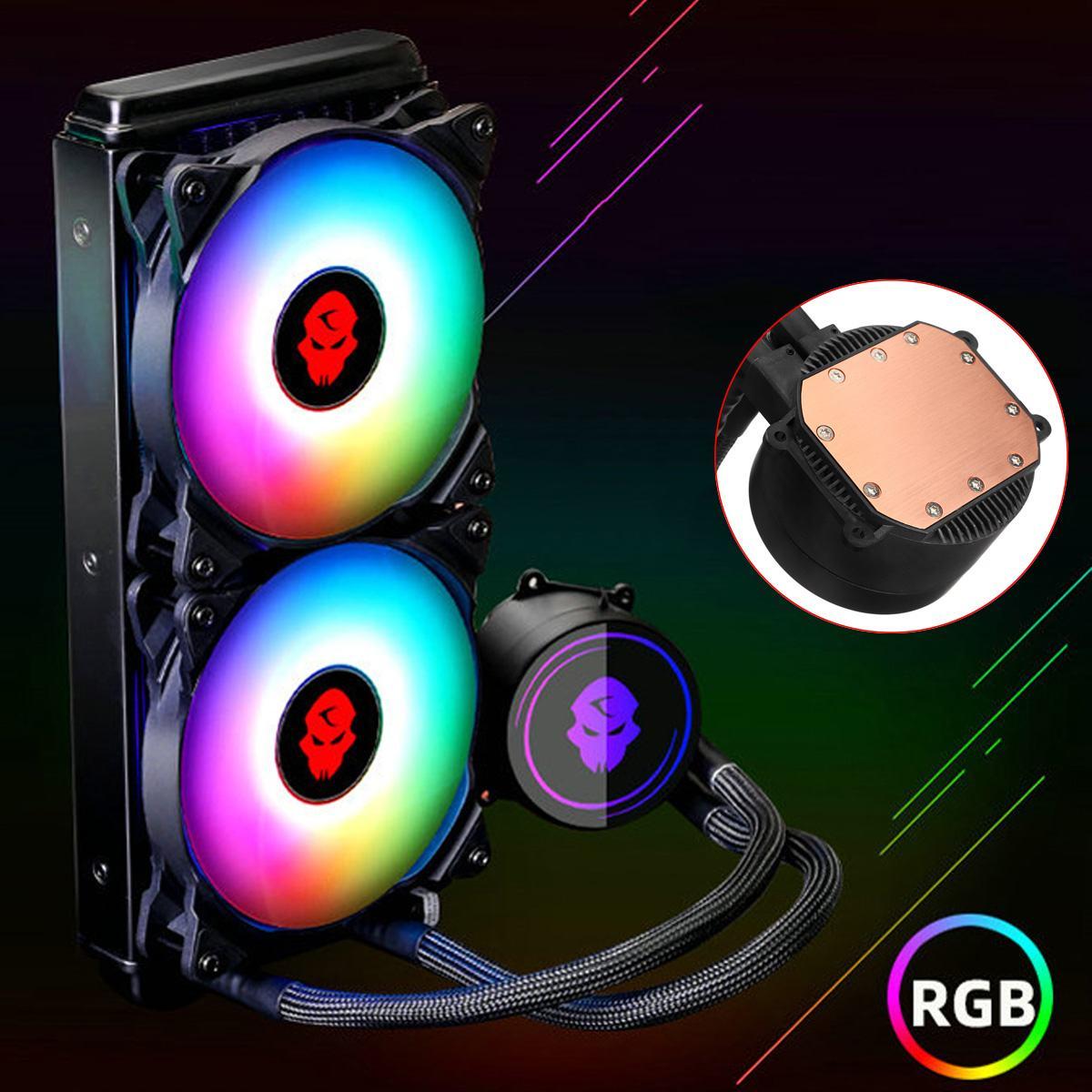 Refroidisseur d'eau du radiateur 240mm de refroidissement par eau de rvb avec le ventilateur de refroidissement de CPU de 4pin PWM pour Intel LGA 2011 1366 775 115X pour AMD pour le jeu