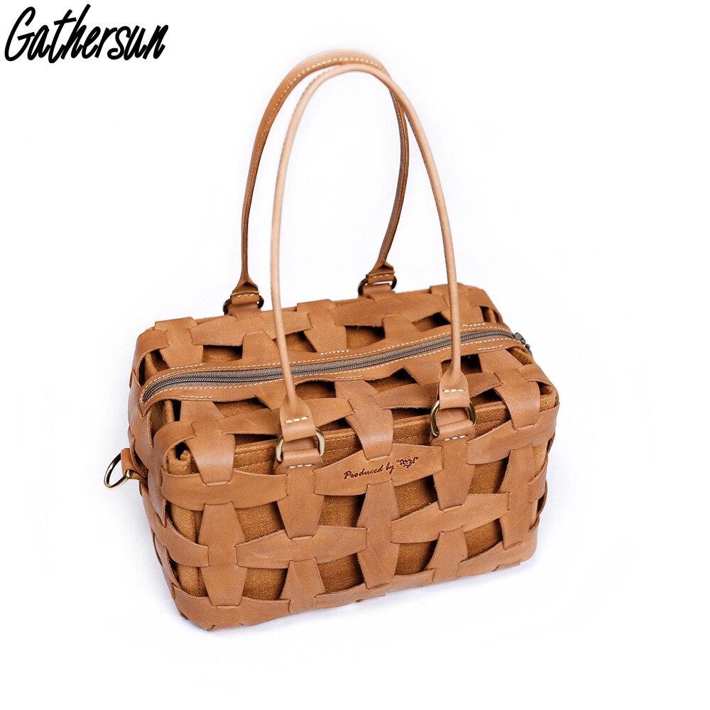 Cuesun été sacs pour femmes 2018 à la main en cuir véritable sacs à main de luxe femmes conception originale dames creux sac à provisions