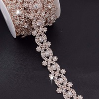 Cup Chain Wholesale High Quality Silver Base Crystal Crystal Clear Sparse Rhinestones Strass Density Rhinestone Cup