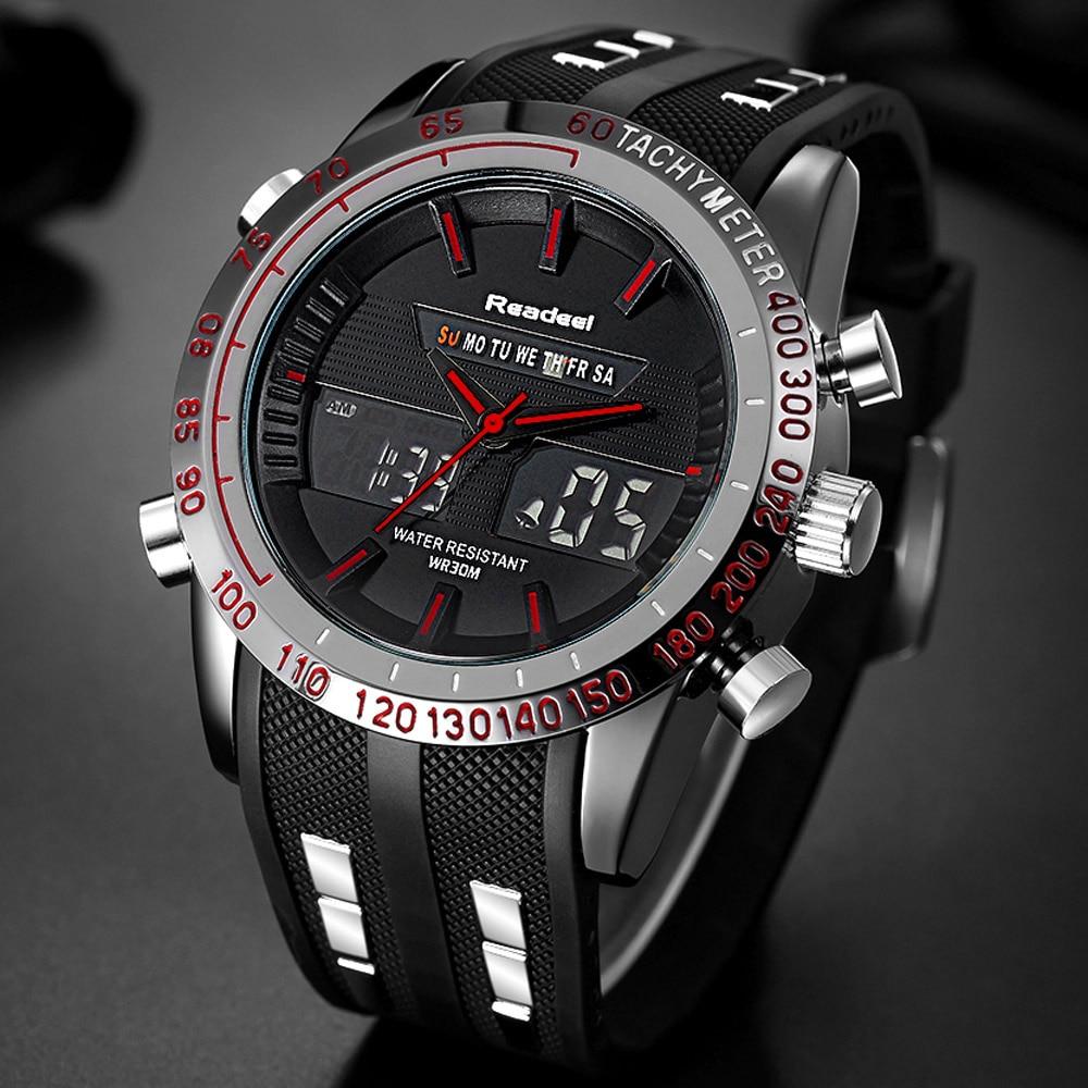 Top Luxury Brand Zegarki Mężczyźni LED Cyfrowy Wojskowy - Męskie zegarki - Zdjęcie 4