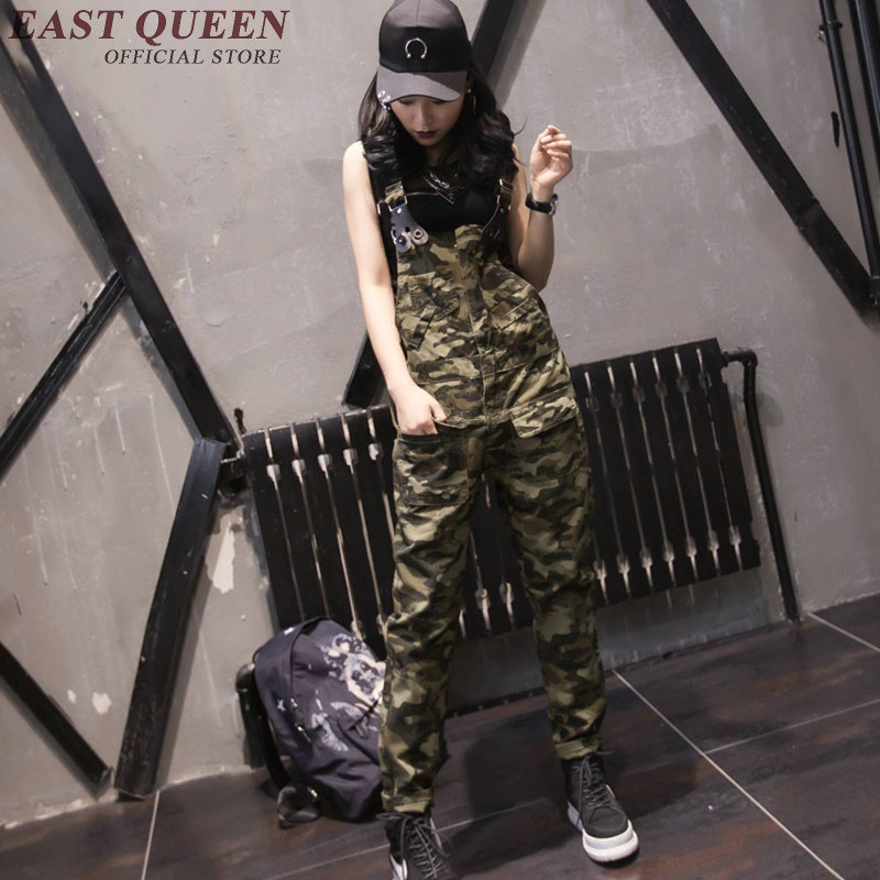 Jumpsuits for women 2017 military camouflage clothing female women jumpsuit long DD002 C ...