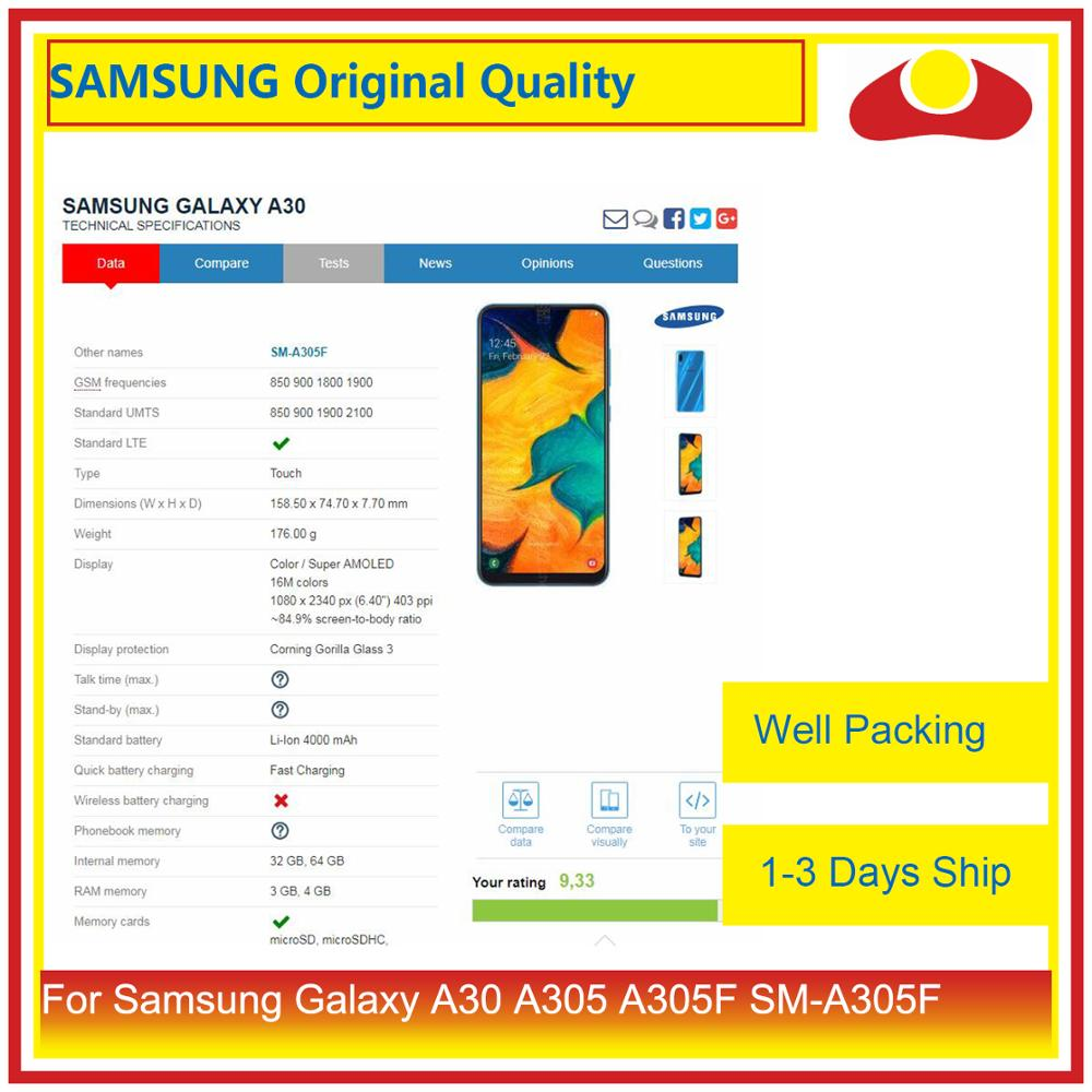 Image 3 - 10Pcs/lot Original For Samsung Galaxy A30 A305 A305F SM A305F LCD Display With Touch Screen Digitizer Panel Pantalla Complete-in Mobile Phone LCD Screens from Cellphones & Telecommunications