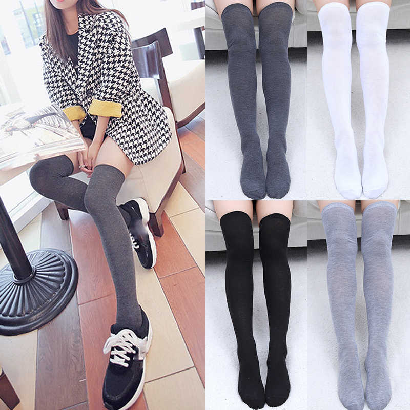 Sexy Cotton Socks Hot New 1Pair Women Socks Fashion Long Socks Thigh High Warm High Quality Over Knee Fashion Classics