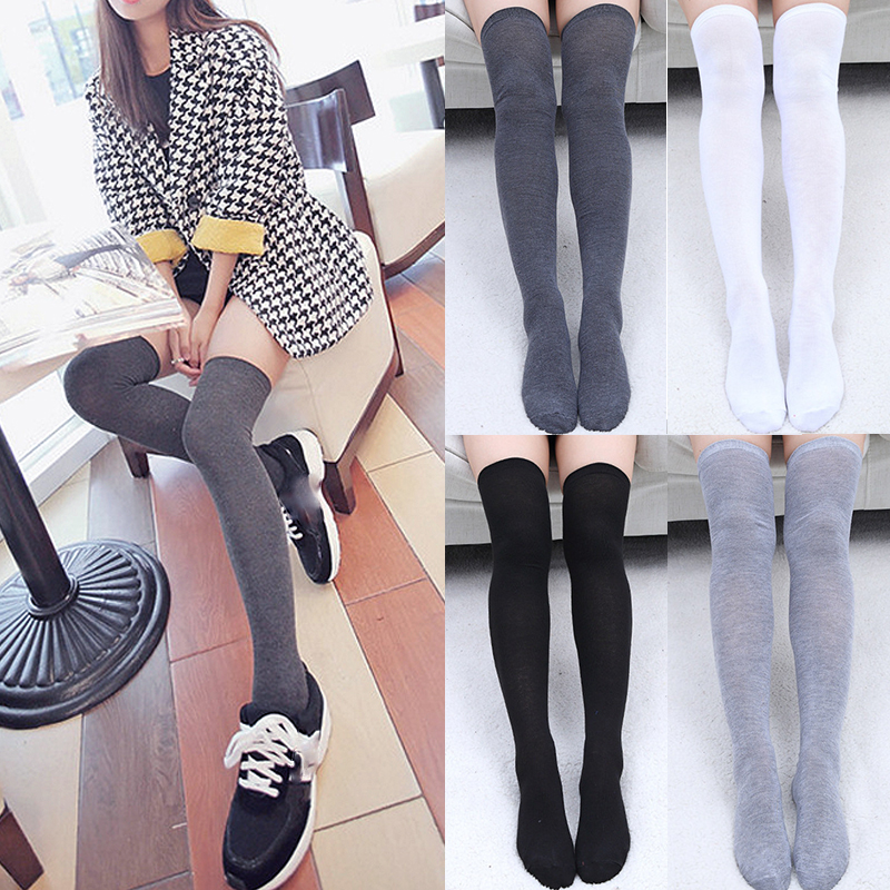 Sexy Cotton Socks Hot New 1Pair Women Socks Fashion Long Socks Thigh High Warm High Quality Over Knee 2018 Fashion Classics