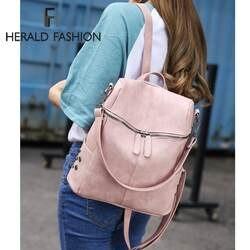Herald модные женские туфли рюкзак качество кожа школьные ранцы для подростка обувь девочек большой школьный рюкзак винтаж твердые сумки на