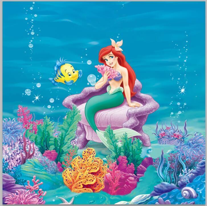 8x8FT Under Sea Little Mermaid Ariel Princess Chair Corals ...