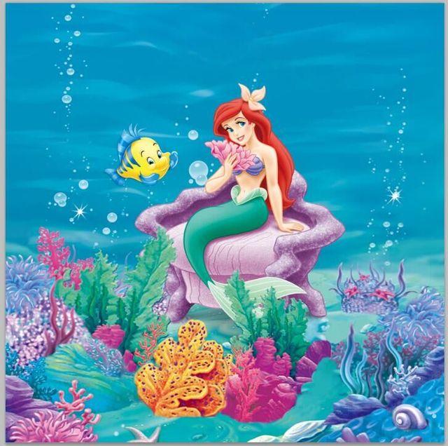 8x8ft Under Sea Little Mermaid Ariel Princess Chair Corals