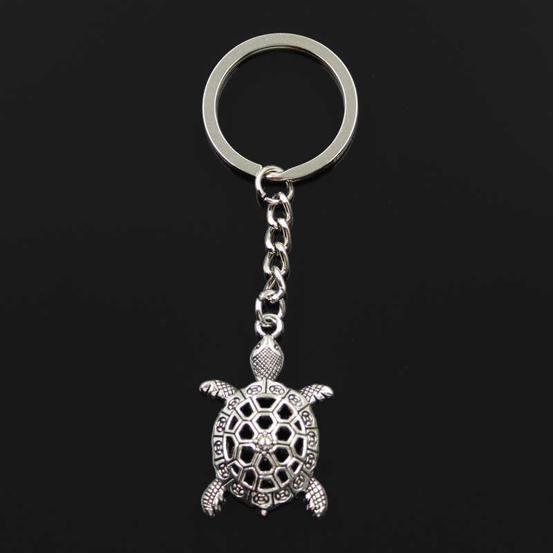 New Fashion Keychain 38x25mm hollow tortoise turtle sea Pendants DIY Men Jewelry Car Key Chain Ring Holder Souvenir For Gift
