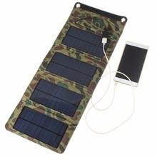 Universal 5.5V 7W 1270mA Mobile Phones Battery Charger Solar Panel Power Bank Polycrystalline Foldable Solar Case Bag Portable
