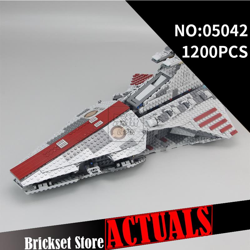 2017 LEPIN 05042 1200Pcs Star Venator-Class Republic Wars Attack Cruiser Model Building Kits Figure Blocks Bricks Toys Gift 8039