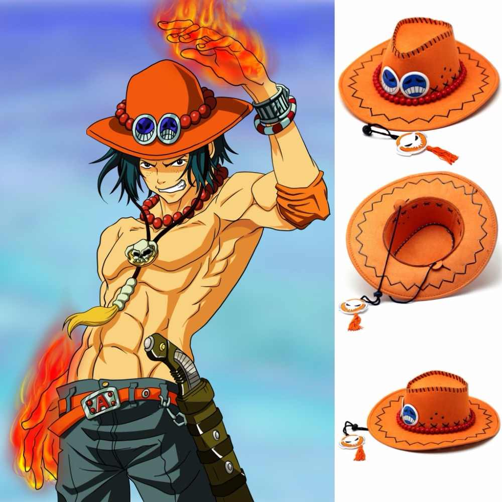 Anime One Piece D Ace Luffy Cosplay Cowboy hats men Women Travel Cap Chopper Tony Pirates Caps Skull Toys costume Halloween hat