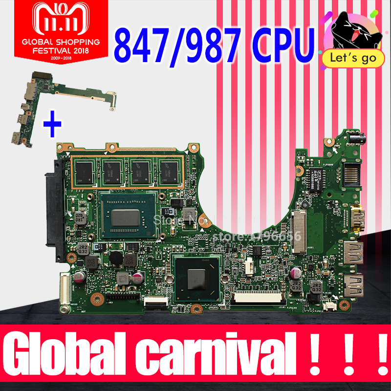 Send board +for ASUS X202E Q200E motherboard X201E X202E S200E 987/847 2G USB3.0 REV2.0 HD Graphics Integrated test 100% OK x202e q200e s200e x201e x202 dh31t laptop motherboard for asus 60 nfqmb1b01 a08 1 8ghz sr0n9 i3 2365m cpu board