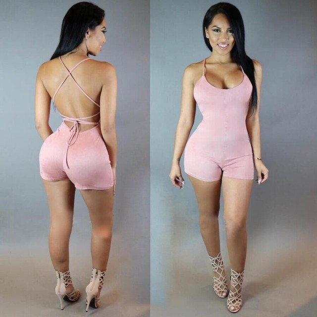 2333e13e41a9 2018 Summer Beach rompers womens jumpsuit cotton sexy fashion sale black  backless bodysuit sexy play suits macacao female wear